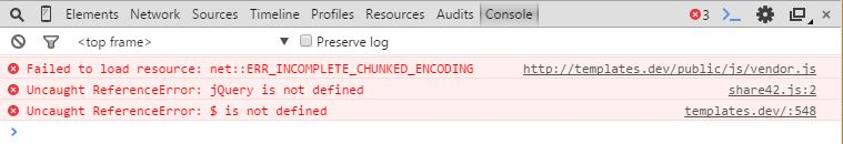 ERR_INCOMPLETE_CHUNKED_ENCODING